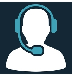 Call center operator icon from commerce set vector
