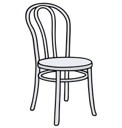 Retro white chair vector