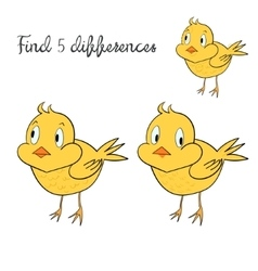 Find differences kids layout for game chicken vector