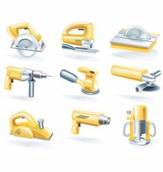 electric tools icons vector image