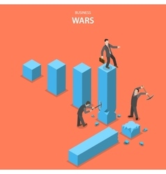 Business wars isometric flat concept vector