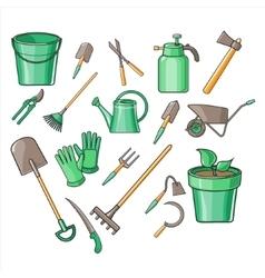 Gardening Tools Set vector image