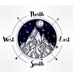 Mountain wind rose vector