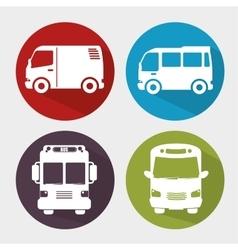 Bus transportation design vector