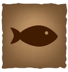 Fish sign vintage effect vector