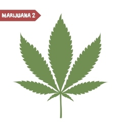 Marijuana leaf isolated vector image