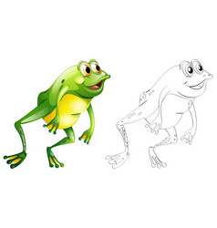 Animal outline for frog jumping vector