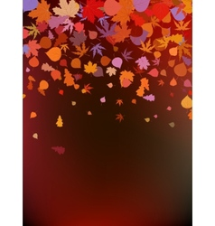 Brown autumnal background eps 8 vector