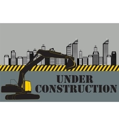Buildings of the City Under Construction vector image