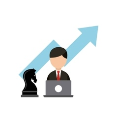 chess horse strategy business vector image