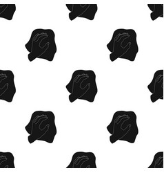 Cleaning by rag icon in black style isolated on vector