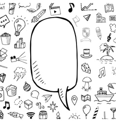 doodle speech bubble with hand drawn vector image vector image