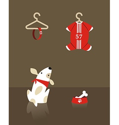 Fashion dog shopping vector image