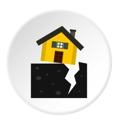 Fault of earth icon flat style vector