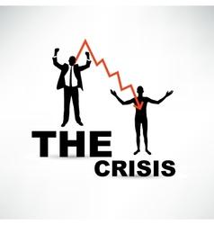 Financial crisis concept joyful and naked vector
