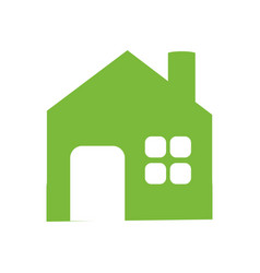 green building house vector image