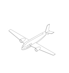 Isometric airplane icon vector