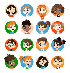 kids avatar collection vector image
