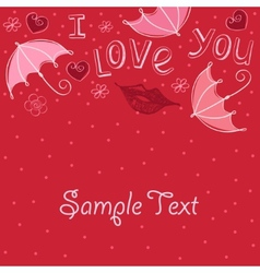 love abstract background vector image