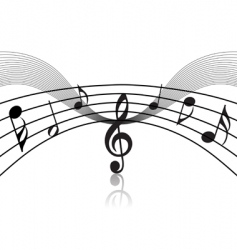 musical staff theme vector image