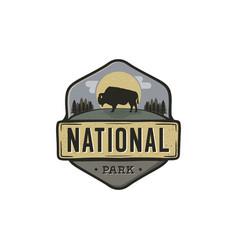 national park vintage badge mountain explorer vector image vector image