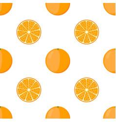 orange seamless pattern vegetarian fresh food vector image vector image
