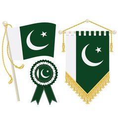 pakistan flags vector image vector image