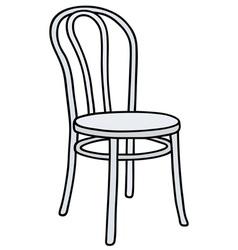 Retro white chair vector