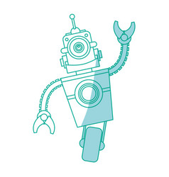 robot toy funny vector image vector image