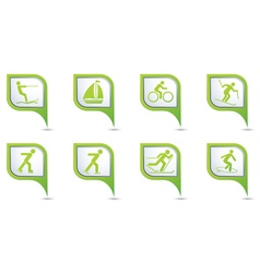 Set of 8 sport green pointer vector