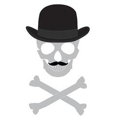 Skull gentleman vector image vector image