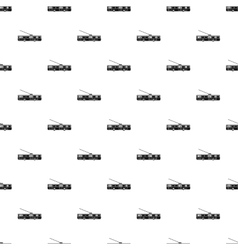 Trolleybus pattern simple style vector