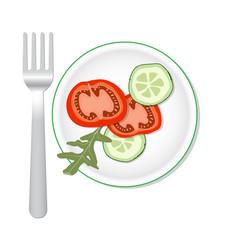 Veggies salade flat vector