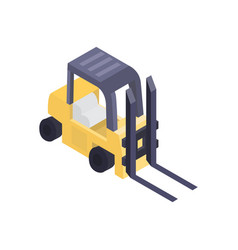warehouse forklift isometric icon vector image vector image