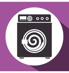 wash machine isolated icon vector image vector image