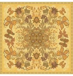 Design for square pocket shawl textile scarf vector