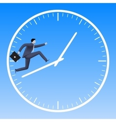Running up the clock handles business concept vector