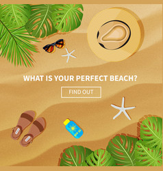 Flat banner for summer travel vector