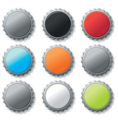 blank bottle caps vector image