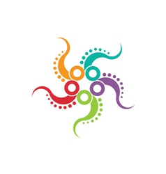 Octopus logo image vector image