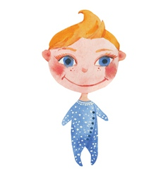 Little baby in blue vector