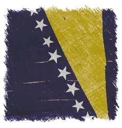 Flag of bosnia and herzegovina handmade vector