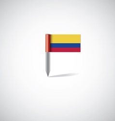 Colombia flag pin vector