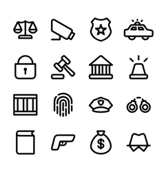 Crisp law icons vector