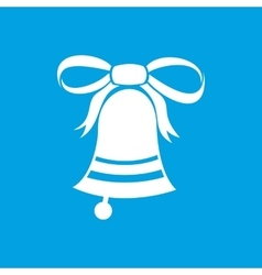 New christmas bell icon vector