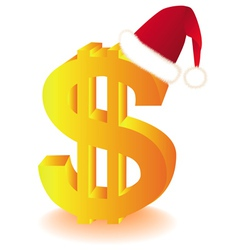 Dollar currency xmas vector
