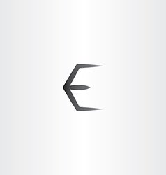 Black e logo letter e symbol vector