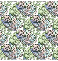 Zen art floral pattern zentangle coloring vector