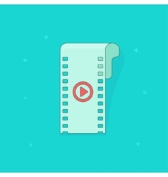 Camera film strip filmstrip flat icon isolated vector image