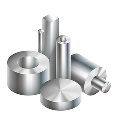 Group metal steel objects forging vector